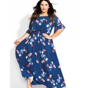 City Chic | Lotus Love Off Shoulder Maxi